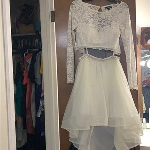 Cream color evening dress size 3 two piece